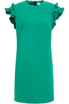 VICTORIA, VICTORIA BECKHAM Ruffled crepe mini dress