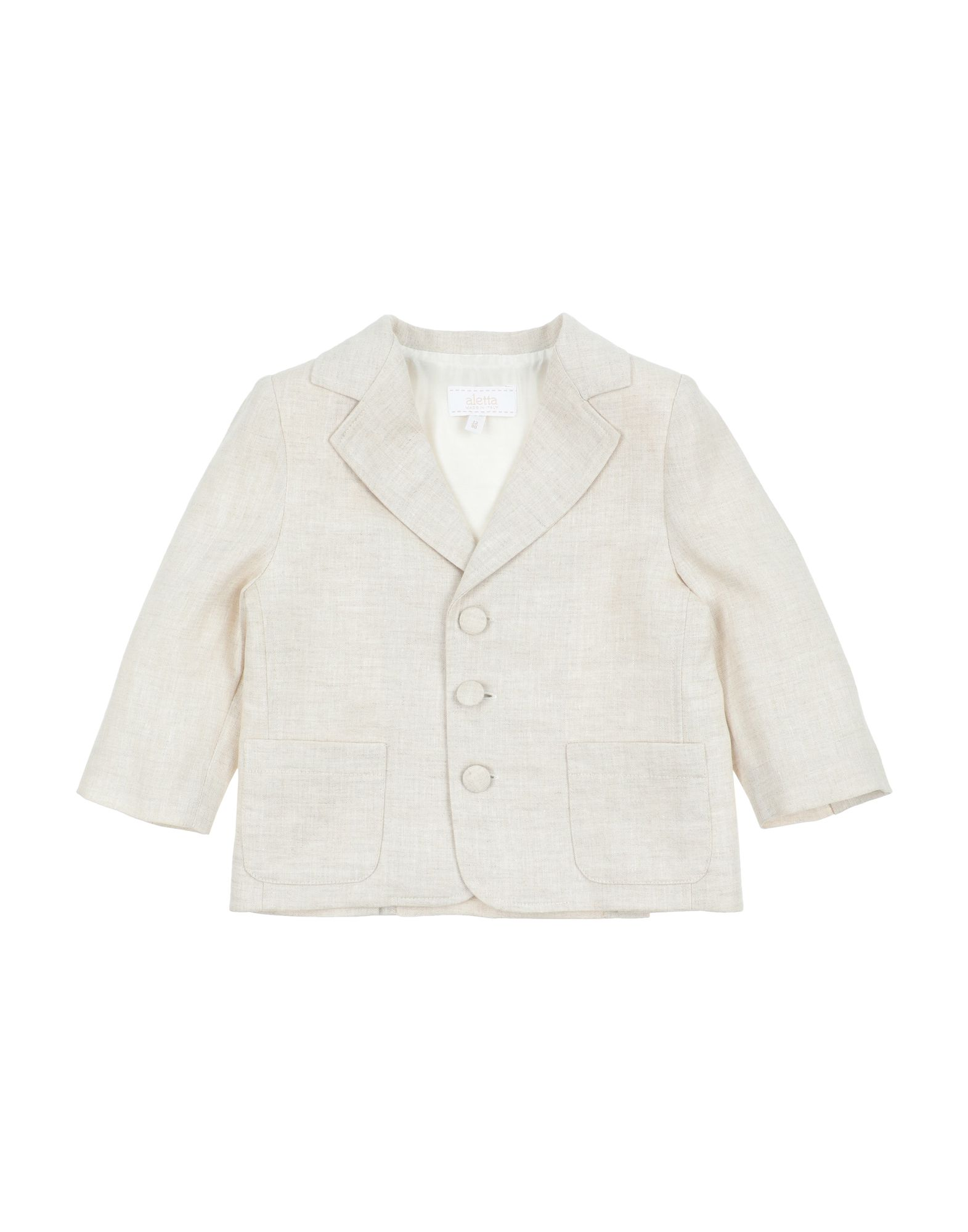 《セール開催中》ALETTA ボーイズ 0-24 ヶ月 テーラードジャケット ベージュ 12 リネン 100%
