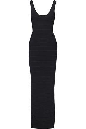 HERVÉ LÉGER فستان سهرة بتصميم ضيق مع فتحة خلفية