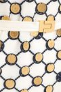 TORY BURCH 装飾付き サテントリム ギピュールレース ミディワンピース