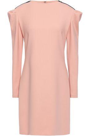 VICTORIA, VICTORIA BECKHAM Zip-detailed wool-blend mini dress
