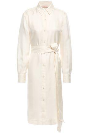 TORY BURCH Belted silk-twill shirt dress