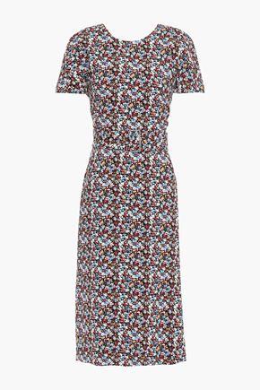 VICTORIA BECKHAM Floral-print crepe dress
