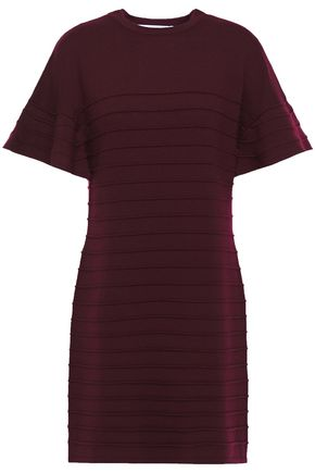 VICTORIA, VICTORIA BECKHAM Ribbed wool mini dress