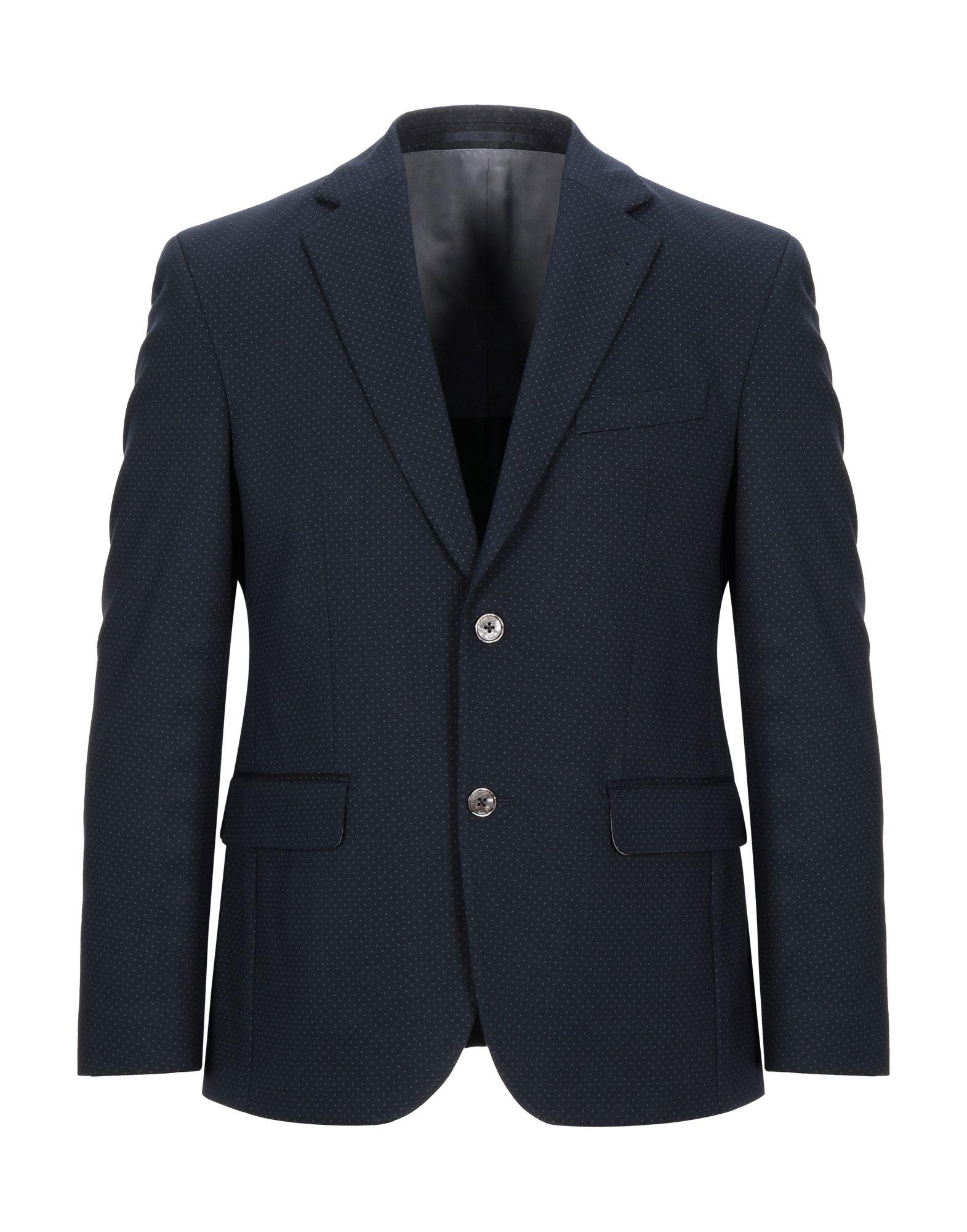 《セール開催中》VIA NAPOLEONE dal 1980 メンズ テーラードジャケット ブルー 48 レーヨン 68% / ナイロン 27% / ポリウレタン 5%