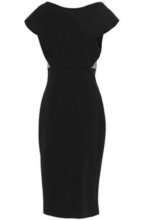 VICTORIA BECKHAM Two-tone stretch-cady dress