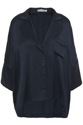 JOIE Desmonda satin-crepe shirt