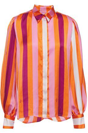 MSGM Striped satin blouse