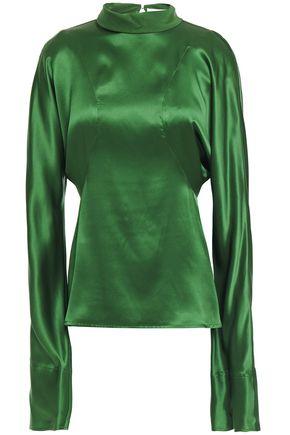 VICTORIA BECKHAM Silk-satin twill blouse
