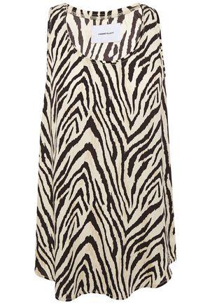 CURRENT/ELLIOTT The Bermuda zebra-print twill tank