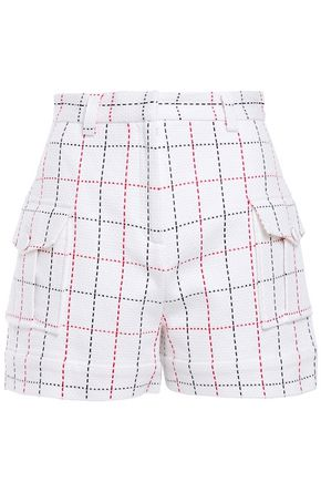 MSGM Checked woven shorts