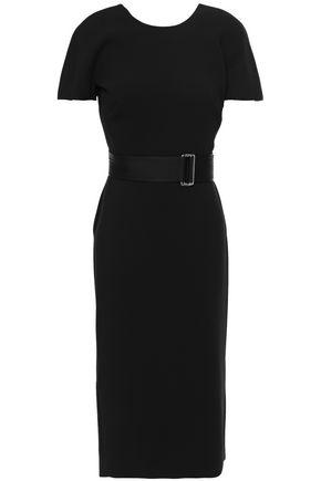 VICTORIA BECKHAM Belted cutout crepe dress