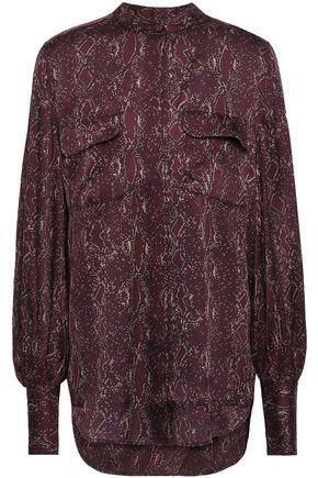 EQUIPMENT Helaine printed washed-satin shirt