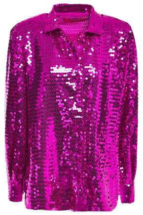 MSGM Sequined georgette shirt
