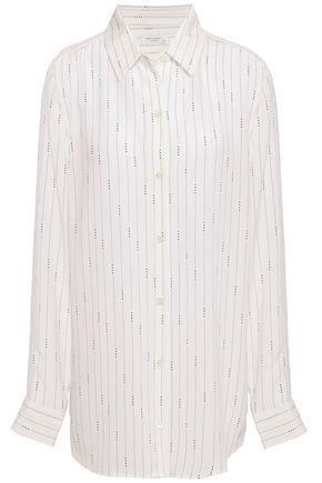 EQUIPMENT Essential pinstriped washed-silk shirt