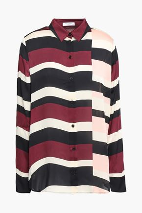 EQUIPMENT Essential striped washed-satin shirt