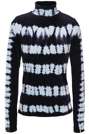 PROENZA SCHOULER Tie-dyed velvet turtleneck top