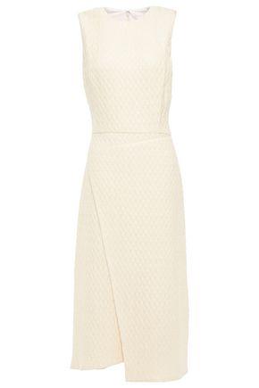VICTORIA BECKHAM فستان متوسط الطول وبتصميم ملتفّ من قماش سميك