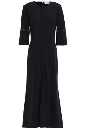 VICTORIA BECKHAM فستان واسع ومتوسط الطول من الكريب