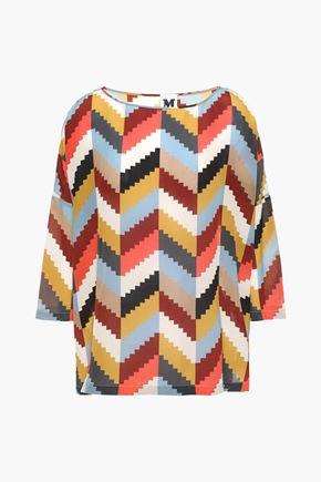 M MISSONI Oversized printed silk crepe de chine blouse
