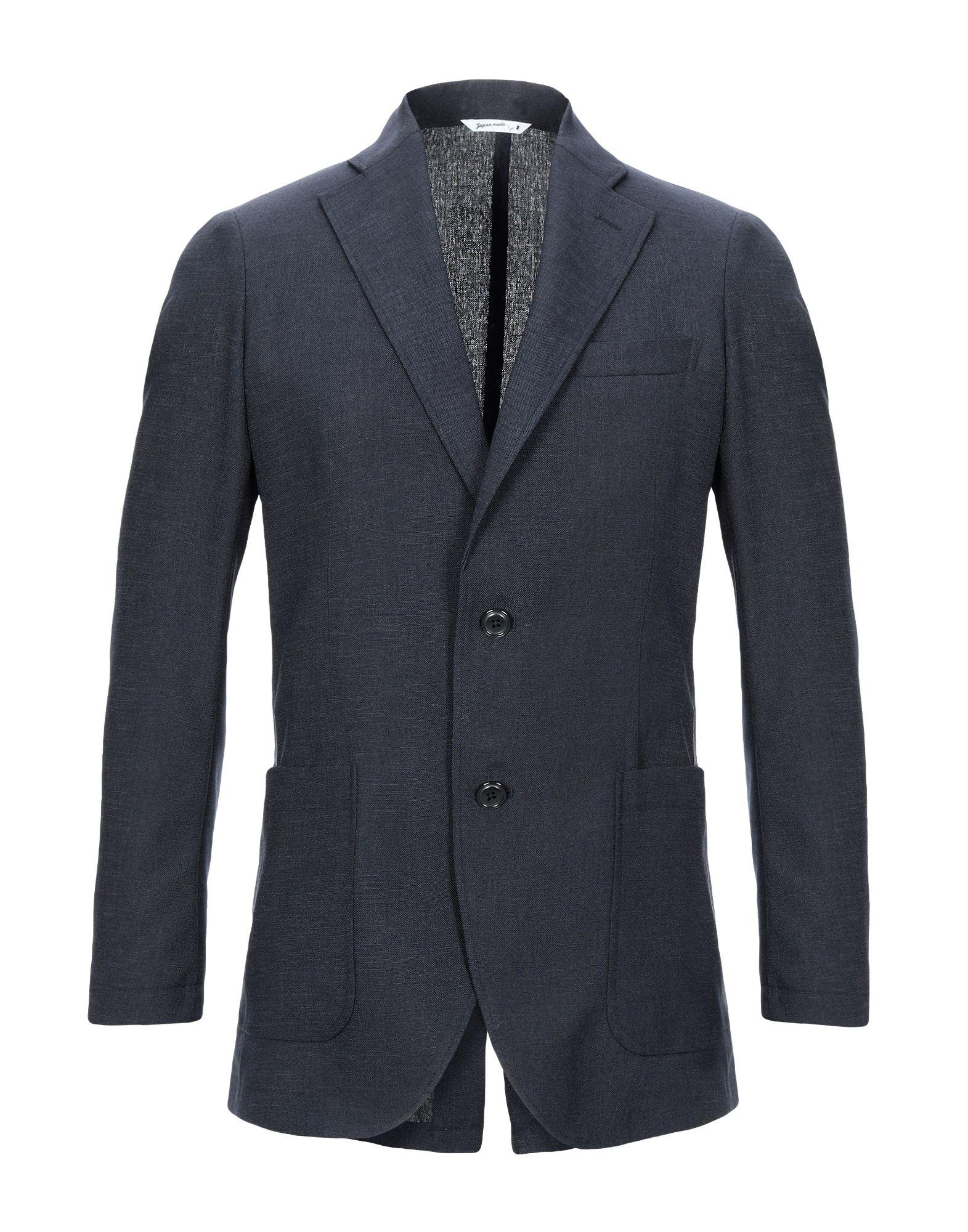 《セール開催中》HYBRID SENSOR? by FLEXJAPAN メンズ テーラードジャケット 鉛色 46 ポリエステル 100%