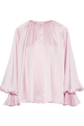 ROKSANDA Pia gathered silk-satin blouse