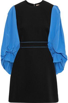 ROKSANDA Cecia crepe de chine-paneled cady mini dress
