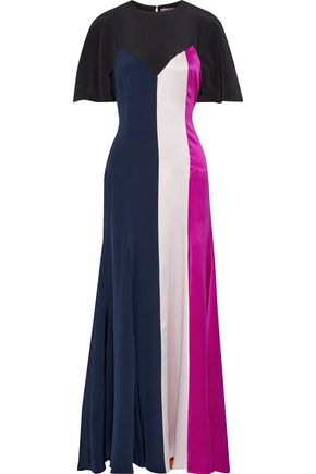 ROKSANDA Emile color-block silk-satin gown
