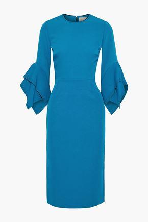ROKSANDA فستان بتصميم منسدل من قماش كادي بلونين