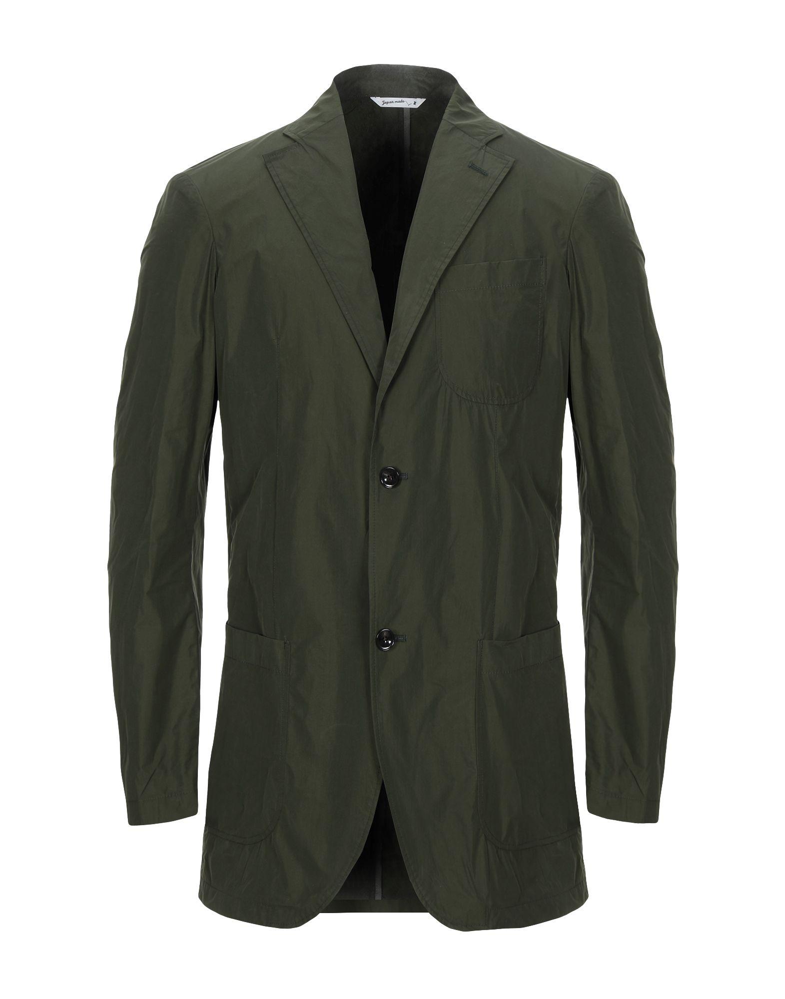 《セール開催中》HYBRID SENSOR? by FLEXJAPAN メンズ テーラードジャケット グリーン 54 ポリエステル 100%