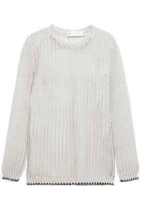 VICTORIA BECKHAM Open-knit linen-blend sweater