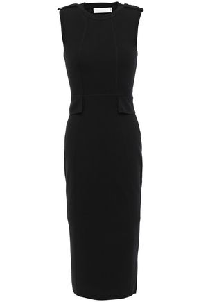 VICTORIA BECKHAM Mélange wool-blend midi dress