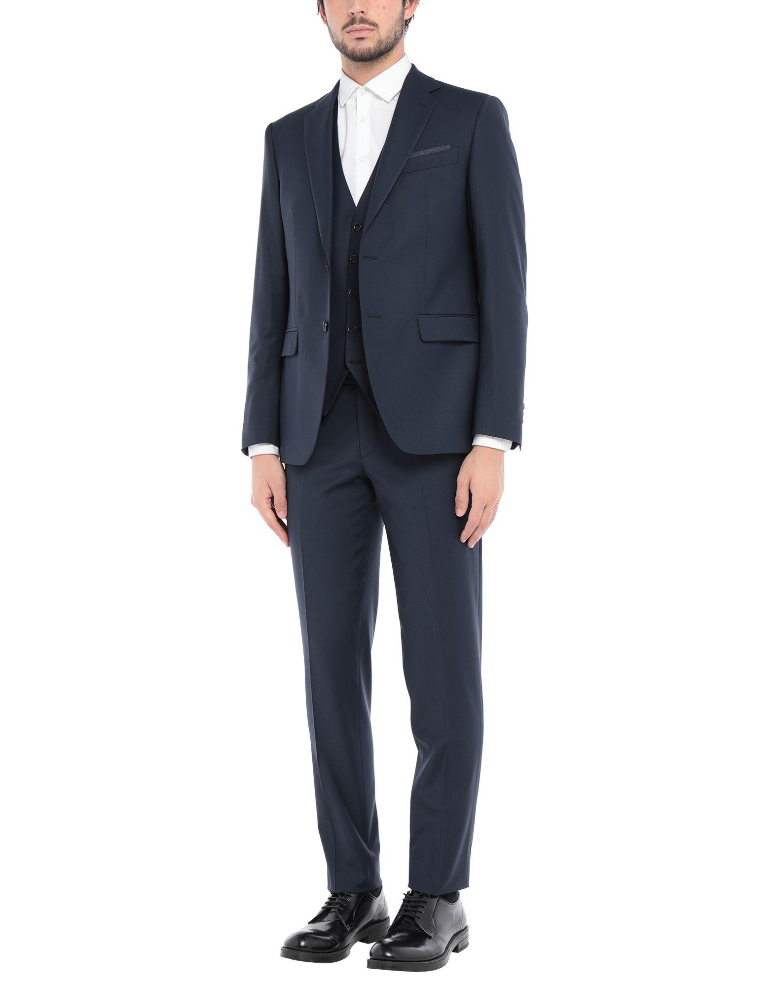 《セール開催中》CITY TIME メンズ スーツ ダークブルー 56 ポリエステル 52% / バージンウール 43% / ポリウレタン 5%