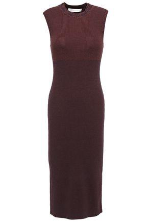 VICTORIA BECKHAM Mélange cotton-blend dress