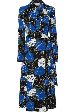 DIANE VON FURSTENBERG Sana printed stretch-jersey midi wrap dress