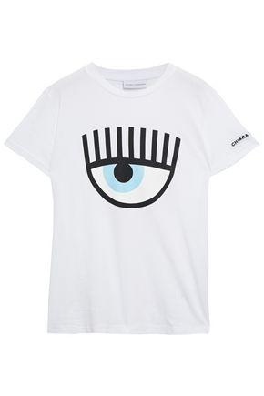 CHIARA FERRAGNI Logomania printed cotton-jersey T-shirt