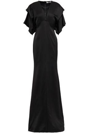 VICTORIA BECKHAM Draped silk-blend satin gown