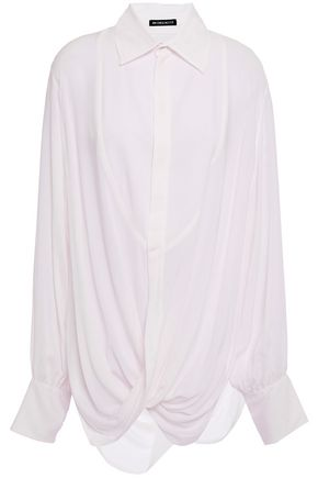 ANN DEMEULEMEESTER Oversized twisted mousseline shirt