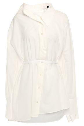 ANN DEMEULEMEESTER Asymmetric draped cotton shirt