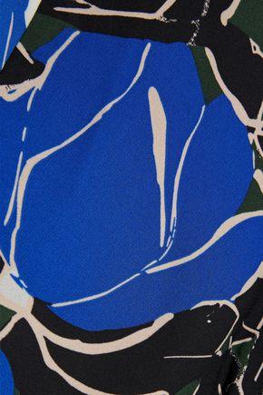 DIANE VON FURSTENBERG Tilly paneled printed crepe de chine midi wrap dress