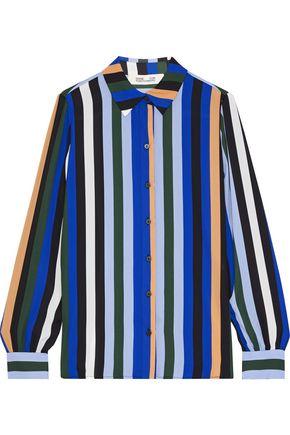 DIANE VON FURSTENBERG Mariah striped crepe de chine shirt