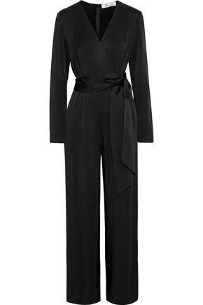 DIANE VON FURSTENBERG Edith wrap-effect crepe de chine jumpsuit