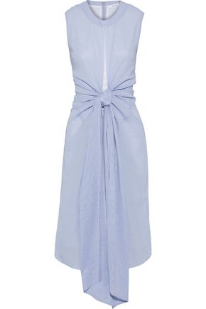 ADEAM Knotted cotton-broadcloth dress