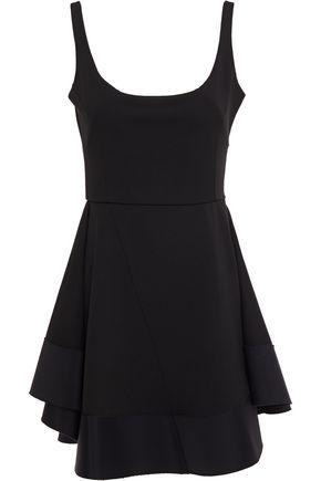 ESTEBAN CORTAZAR Flared twill-paneled cady mini dress