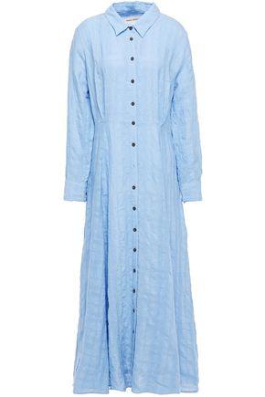 MARA HOFFMAN Michelle linen and organic cotton-blend maxi shirt dress