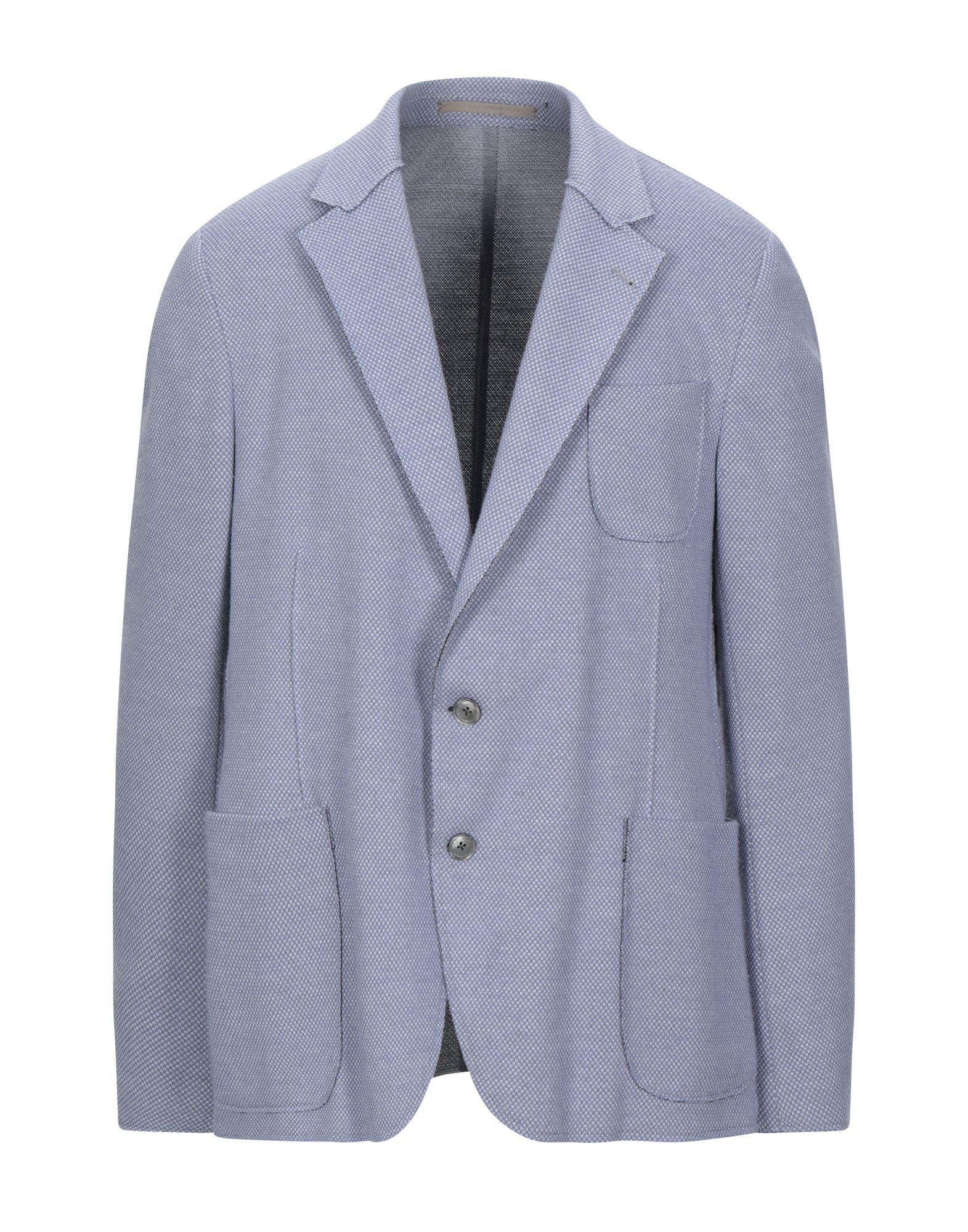 《セール開催中》VIA NAPOLEONE dal 1980 メンズ テーラードジャケット パステルブルー 56 ポリエステル 77% / コットン 23%