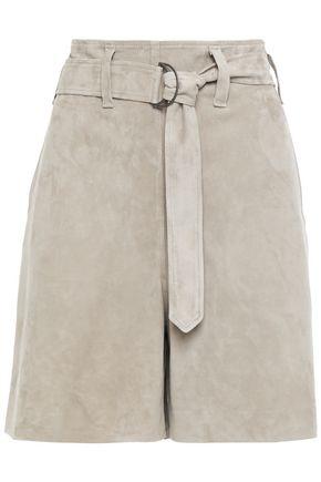 BRUNELLO CUCINELLI Belted suede shorts