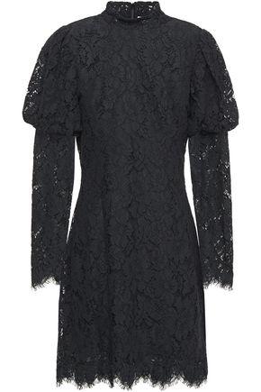 GANNI فستان قصير من الدانتيل المضلع