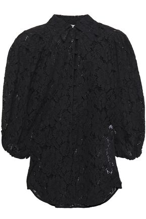 GANNI Everdale corded lace shirt
