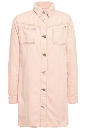 GANNI Krest washed-denim mini shirt dress